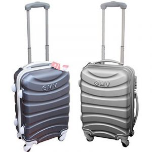 COUPLE CHARIOT CABINE VALISE HAND DUR BAGAGES GIANMARCO VENTURI CABINE SIZE LOW COST RYANAIR EASYJET TAILLE VALISE CABINE BAGAGES de la marque GIANMARCO VENTURI image 0 produit