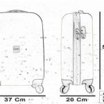 COUPLE CHARIOT CABINE VALISE HAND DUR BAGAGES GIANMARCO VENTURI CABINE SIZE LOW COST RYANAIR EASYJET TAILLE VALISE CABINE BAGAGES FMXD005D de la marque GIANMARCO VENTURI image 3 produit