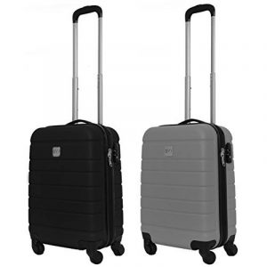 COUPLE CHARIOT CABINE VALISE HAND DUR BAGAGES GIANMARCO VENTURI CABINE SIZE LOW COST RYANAIR EASYJET TAILLE VALISE CABINE BAGAGES FMXD007D de la marque GIANMARCO VENTURI image 0 produit