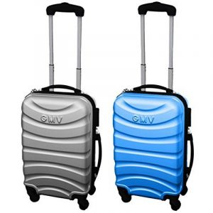 COUPLE CHARIOT CABINE VALISE HAND DUR BAGAGES GIANMARCO VENTURI CABINE SIZE LOW COST RYANAIR EASYJET TAILLE VALISE CABINE BAGAGES FMXD008D de la marque GIANMARCO VENTURI image 0 produit