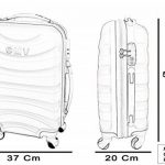COUPLE CHARIOT CABINE VALISE HAND DUR BAGAGES GIANMARCO VENTURI CABINE SIZE LOW COST RYANAIR EASYJET TAILLE VALISE CABINE BAGAGES FMXD008D de la marque GIANMARCO VENTURI image 3 produit