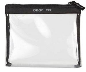 DEGELER Clear Bag - Trousse de toilette transparente à fermeture Éclair - idéale pour transport de liquides dans un bagage à main en avion/pour courts voyages de la marque DEGELER image 0 produit
