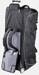 Dermata JumboSac de voyage à roulettes avec fonction sac à dos Grand volume: 96cm/145L Noir/gris de la marque Dermata image 0 produit