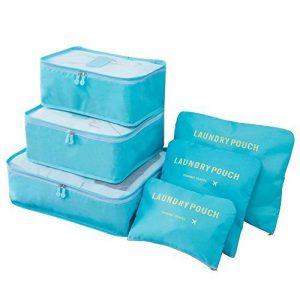 Ediwell Ensemble de 6 Organisateurs de voyage emballant des cubes Sac de blanchisserie Bagage Sacs de compression pour des vêtements de la marque Ediwell image 0 produit