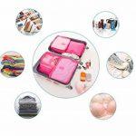 Ediwell Ensemble de 6 Organisateurs de voyage emballant des cubes Sac de blanchisserie Bagage Sacs de compression pour des vêtements de la marque Ediwell image 6 produit