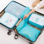 Ediwell Ensemble de 6 Organisateurs de voyage emballant des cubes Sac de blanchisserie Bagage Sacs de compression pour des vêtements de la marque Ediwell image 1 produit