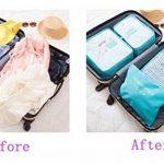 Ediwell Ensemble de 6 Organisateurs de voyage emballant des cubes Sac de blanchisserie Bagage Sacs de compression pour des vêtements de la marque Ediwell image 3 produit