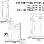 Ensemble de valises Bagage souple Roue à 4 roues Porte-bagages à main légère Carlingue de voyage 3/T de la marque GIANMARCO VENTURI image 2 produit