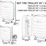 Ensemble de valises Hard Shell ABS 4 roues Spinner Bagage à main léger Cabine Travel Trolley 3/A de la marque GIANMARCO VENTURI image 4 produit