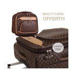 Ensemble Valise Cabine et Vanity case assorti marron-Snowball. de la marque Snowball image 3 produit