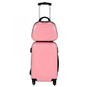 Ensemble valise et vanity Rose Femme Lulu Castagnette de la marque Lulu Castagnette image 0 produit