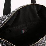 Even & Odd Weekender Sac de Sport en Toile pour Femme–Motif fleuri en noir & rose ou noir & blanc–petit sac de voyage–bagages à main Sac de la marque Even&Odd image 4 produit