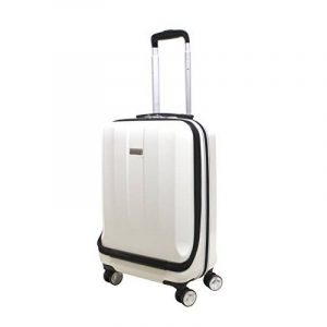 """EXZACT Bagage de cabine / Sac de transport - 20"""" / coque dure / Hardside / Poche avant pour ordinateurs portables / 4 roues à 360° / léger de la marque Exzact image 0 produit"""