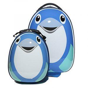 FERGÉ 1x trolley enfant & 1x sac à dos Child-Trolley&Backpack - Valise pour enfants en ABS & PC (DURE-FLEX) rigide et léger de la marque FERGÉ image 0 produit