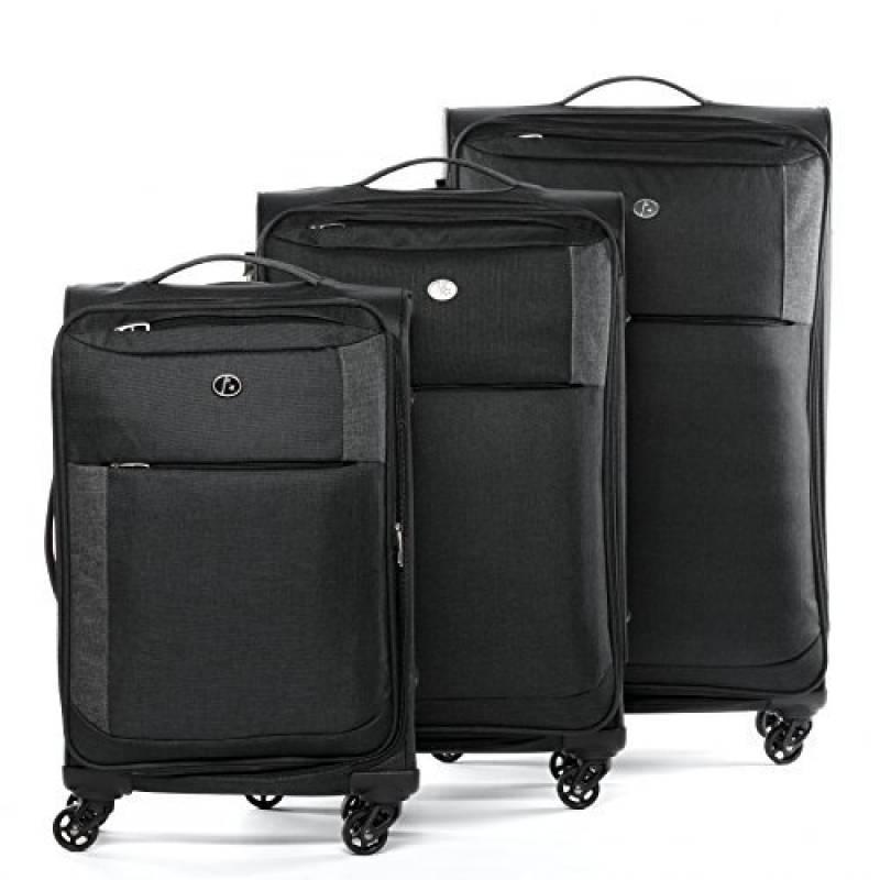 Fergé Lot de bagages 3 pièces rigide Chariot de voyage Cannes valise set 4 TWIN