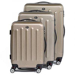 FERGÉ ensemble de valise (set de 3) LYON - Valise à roulettes en ABS - (DURE-FLEX) rigide et léger de la marque FERGÉ image 0 produit
