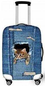 FOR U DESIGNS 2017 Nouveau étanche toile chat mignon elastique housse valises Avec fermeture éclair pour 18-28 pouce housse de protection de valise housse valise de la marque For U Designs image 0 produit
