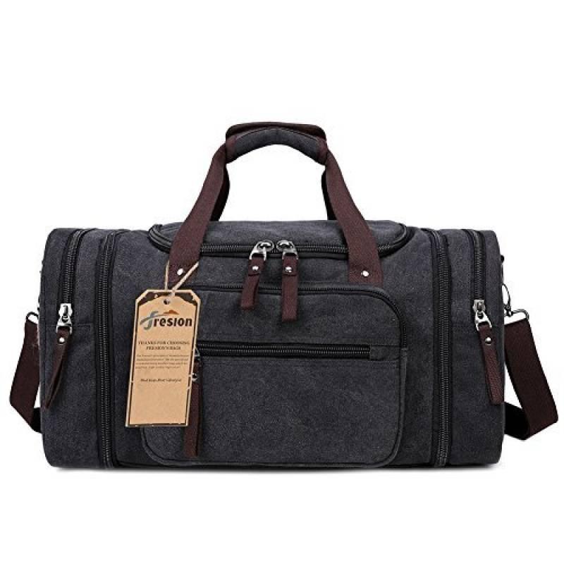fe3f03fc63 Notre sélection de sac de voyage homme cuir noir : Note Amazon. (115).  Fresion Grand Capacité étanche ...