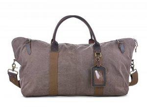 GOOTIUM 60615 Vintage Canvas Cuir Weekend Travel Duffle Bag Sac de Voyage, 52 cm, 40 L, Coffee de la marque Gootium image 0 produit