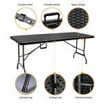 Grande table pliante de pique-nique noire, table 180cm pliante format valise, table de camping de la marque interougehome image 2 produit