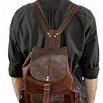 """Gusti Cuir nature """"Bobbie 13"""""""" sac à dos en cuir backpack bagage à main bagage cabine sac randonnée sac porté épaule homme femme cuir de chèvre marron M55b c de la marque Gusti Leder nature image 1 produit"""