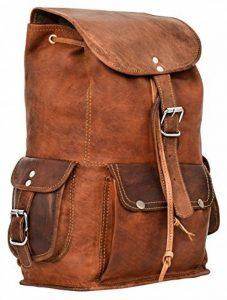 """Gusti Cuir nature """"Bobbie 13"""""""" sac à dos en cuir backpack bagage à main bagage cabine sac randonnée sac porté épaule homme femme cuir de chèvre marron M55b c de la marque Gusti Leder nature image 0 produit"""