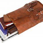 """Gusti Cuir nature """"Gary 13"""""""" sac à dos en cuir backpack bagage à main bagage cabine sac randonnée sac porté épaule homme femme cuir de chèvre marron foncé M31 c de la marque Gusti Leder nature image 2 produit"""