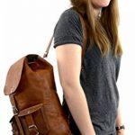 """Gusti Cuir nature """"Gary 13"""""""" sac à dos en cuir backpack bagage à main bagage cabine sac randonnée sac porté épaule homme femme cuir de chèvre marron foncé M31 c de la marque Gusti Leder nature image 1 produit"""