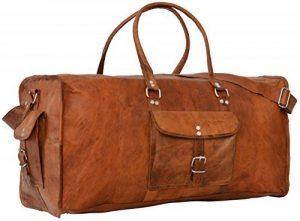 """Gusti Cuir nature """"Oscar"""" sac de voyage en cuir bagage à main bagage cabine sac bandoulière sac porté épaule sac cuir véritable sac de sports sac à main R2 de la marque Gusti Leder nature image 0 produit"""