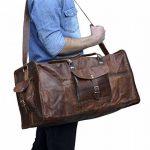 """Gusti Cuir nature """"Oscar"""" sac de voyage en cuir bagage à main bagage cabine sac bandoulière sac porté épaule sac cuir véritable sac de sports sac à main R2 de la marque Gusti Leder nature image 1 produit"""