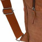 """Gusti Cuir studio """"Amber"""" sac à dos en cuir sac ordinateur portable sac porté épaule bacpack en cuir bagage à main sac de voyage en cuir homme femme cuir de chèvre marron clair 2M49-29-1 de la marque Gusti Leder studio image 6 produit"""