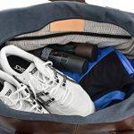 """Gusti Cuir studio """"Stanford"""" sac de sport élégant dont poche pour chaussures sac de voyage sac de week-end en cuir de chèvre et en toile marron bleu 2R25-29-17 de la marque Gusti Leder studio image 2 produit"""