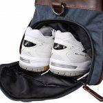 """Gusti Cuir studio """"Stanford"""" sac de sport élégant dont poche pour chaussures sac de voyage sac de week-end en cuir de chèvre et en toile marron bleu 2R25-29-17 de la marque Gusti Leder studio image 5 produit"""