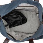 """Gusti Cuir studio """"Stanford"""" sac de sport élégant dont poche pour chaussures sac de voyage sac de week-end en cuir de chèvre et en toile marron bleu 2R25-29-17 de la marque Gusti Leder studio image 3 produit"""