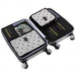 HiDay 7 Set Système de Cube Voyage + 3 Cubes d'emballage + 3 Pochettes + 1 Chaussures Premium Sac - Parfait Voyage Bagages Organisateur de la marque HiDay image 1 produit