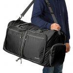 Homdox 85L Duffel Sac de Voyage, sac polochon Léger pliable, Noir de la marque Homdox image 5 produit