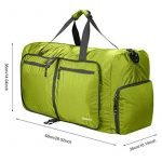 Homdox 85L Duffel Sac de Voyage, sac polochon Léger pliable, Vert clair de la marque Homdox image 3 produit