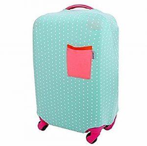 Housse Protection de Valise Bagage Elastique tissu Protectiong Couverture Bagage Blanc Dot de la marque S.D. Maket image 0 produit