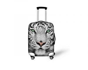 Hysenm Housse de Protection pour Valise 55-61cm / 22-24 pouces Zippé Élastique Résistant Couverture Bagage Voyage Animal tigre M de la marque HYSENM image 0 produit