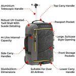 I AM MAX Bagage à roulettes Manhattan 55x40x20 avec bretelles pliables de la marque Cabin Max image 3 produit