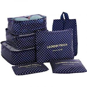 KALA 7 Ensemble Voyager Cube System, Travel Cubes Bagage Sacs de Stockage Système de Compression- 3 Cubes De Voyage + 3 Poches + 1 Sac à Chaussures, Votre Meilleur Assistant De Voyage de la marque KALA image 0 produit