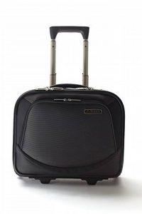 Kappa® Business Chariot à bagages sac de voyage Cabine main pour ordinateur portable Sacoche Valise avec roulettes à roulettes–Noir/Gris de la marque Kappa image 0 produit