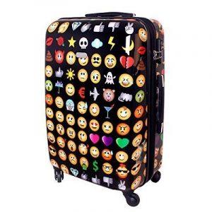 Karry Coquille dure Voyage Valise Trolley TSA Noir Emoji 820 de la marque Karry image 0 produit