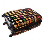 Karry Coquille dure Voyage Valise Trolley TSA Noir Emoji 820 de la marque Karry image 3 produit
