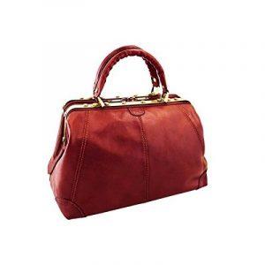 Katana - Sac Weekend Cuir de vachette DILIGENCE - Rouge de la marque Katana image 0 produit
