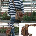 Kaukko Sacs à bandoulière Rétro Toile Sac de voyage Sac de taille pour Hommes de la marque KAUKKO image 4 produit