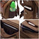 Kaukko Sacs à bandoulière Rétro Toile Sac de voyage Sac de taille pour Hommes de la marque KAUKKO image 5 produit