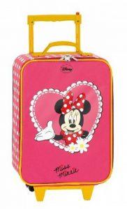 """Kindertrolley valis'à roulettes pour enfant rose/motif minnie mouse """" de la marque Fabrizio image 0 produit"""