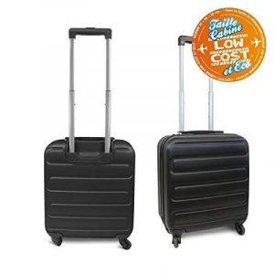 Kinston Valise Cabine Bagage Low Cost EasyJet Ryanair 50cm - 4 Roues Rigide Noir de la marque KINSTON image 0 produit