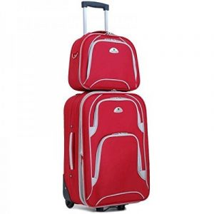 Kinston - Valise cabine souple et son vanity rouge de la marque KINSTON image 0 produit